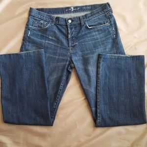 7 For All Mankind Distressed Relaxed Mens Jeans